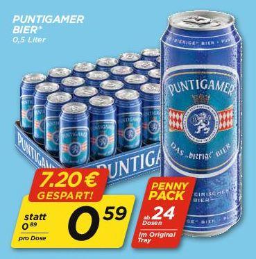 Penny Puntigamer Bier ab 24 Dosen nur am Do 15.2.