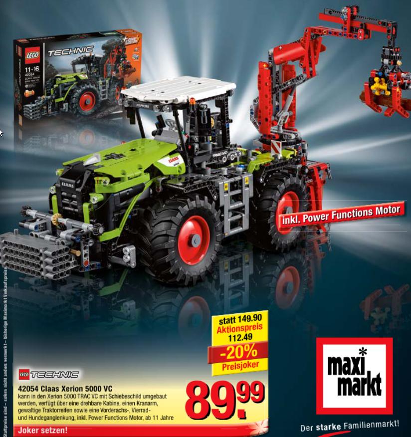 [Maximarkt] Lego Technic 42054 Claas Xerion 5000 VC um nur 89,99€
