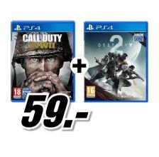 [Mediamarkt 8 bis 8 Nacht] PS4 Call of Duty WWII + Destiny 2 Action für 59,-€ Versandkostenfrei