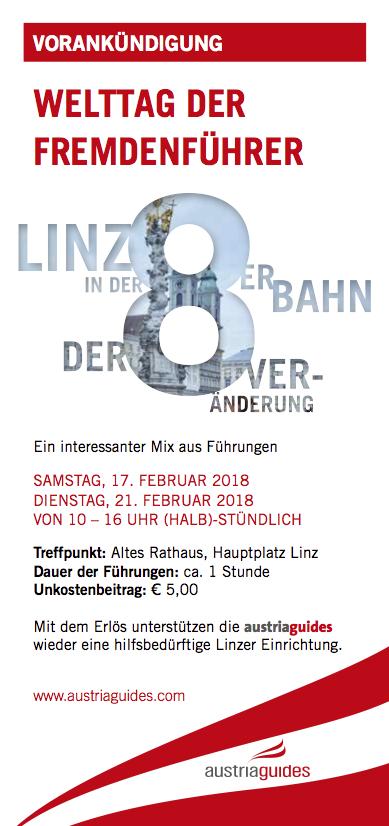 WELTTAG DER FREMDENFÜHRER 2018 in ÖSTERREICH & SÜDTIROL / gratis Führungen