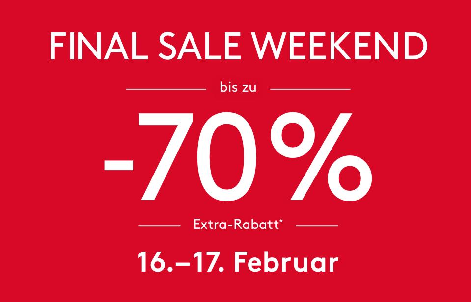 Designer Outlet Parndorf: 70% Rabatt Finale Sale - 16+17.2.2018
