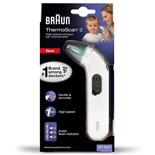 Blitzangebot + Gutschein: Braun IRT3030 ThermoScan 3 Infrarot Ohrthermometer