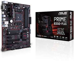 Amazon Asus Prime B350-PLUS Mainboard Sockel AM4 (ATX, AMD B350, Ryzen, 4x DDR4 Speicher, 6x SATA 6Gb/s)