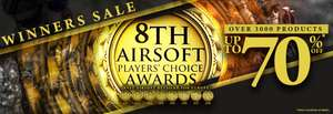 Gunfire.pl: 8th Airsoft Players Choice Awards Sale, bis zu -70%
