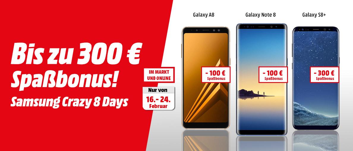 Samsung Crazy 8 bis zu 300,- Euro Spaßbonus sichern!