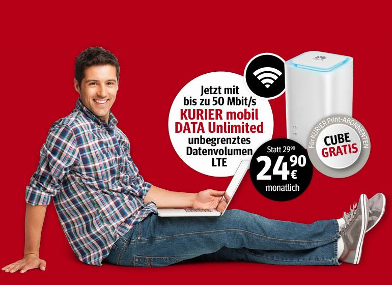 Kurier Mobil Data Unlimited 50/10 Mbit/s  (A1) inkl. ePaper - Print Abo keine Voraussetzung