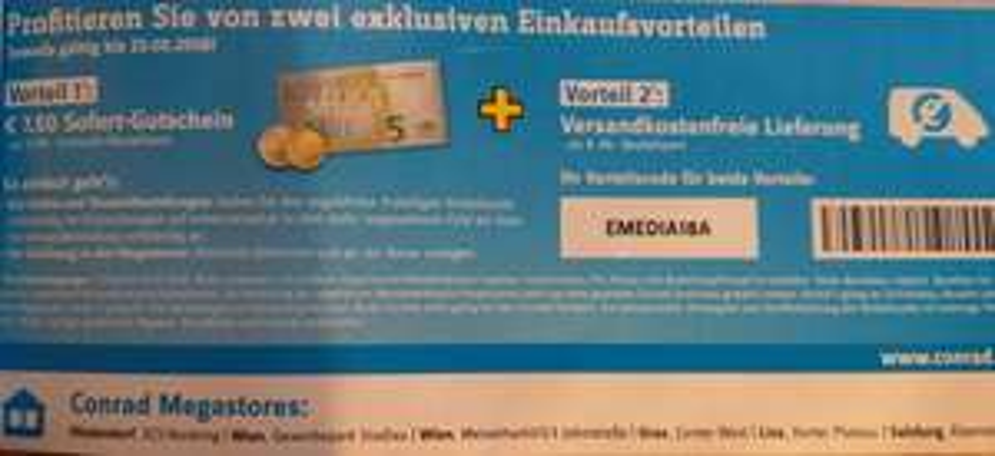 Conrad.at - Gutscheincode keine Versandkosten ab 49€ sowie 7,50 Rabatt ab 69€