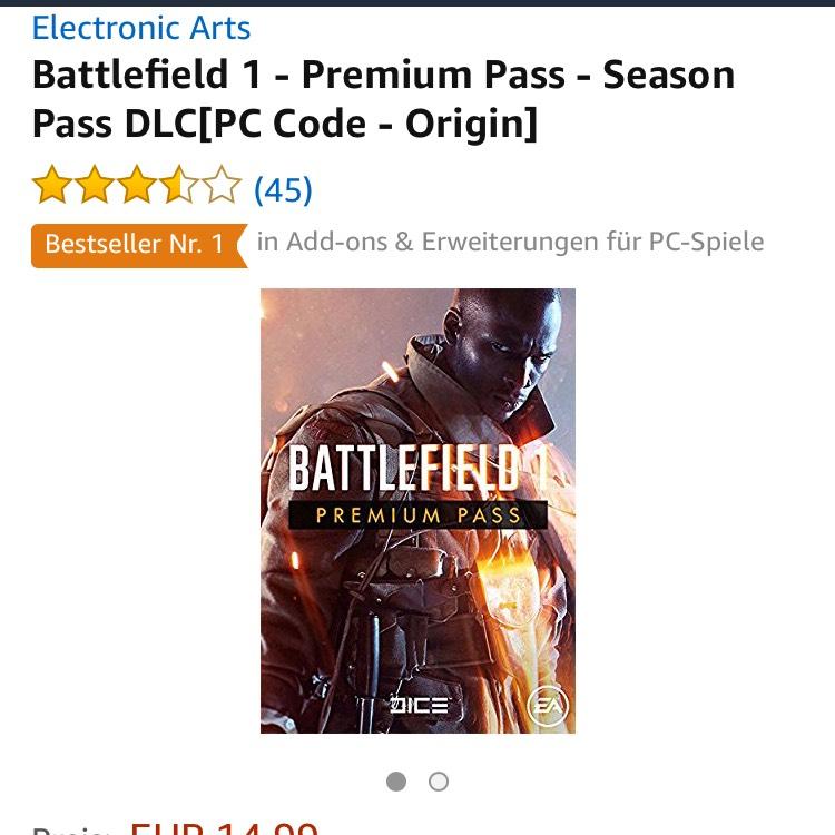 Battlefield 1 - Premium Pass für PC & PS4 um 14,99€