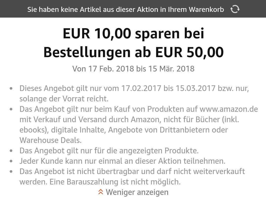 [Amazon] -10€ ab 50€ auf ausgewählte Sportnahrung
