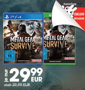 Metal Gear Survive (PS4 / Xbox One) für 29,99€
