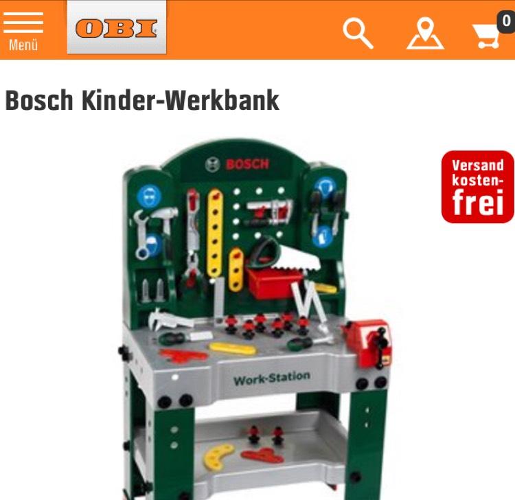 Für groß und klein Bosch Werkstattbank für Kinder. [OBI Onlineshop]