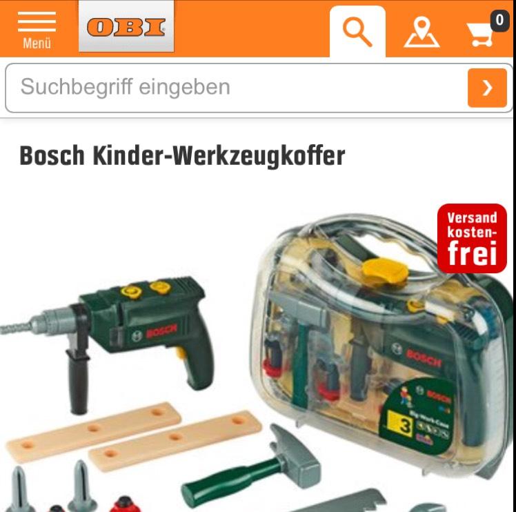 Für groß und klein Bosch kinder Werkzeugkoffer