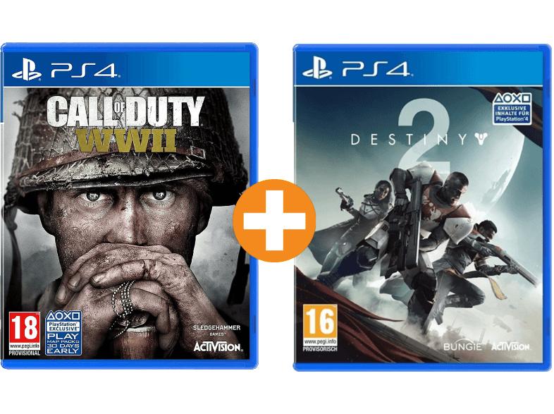 Call of Duty WWII + Destiny 2 (PlayStation 4) für 55€