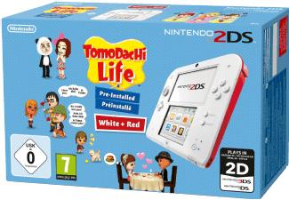 [Mediamarkt 8 bis 8 Nacht] Nintendo 2DS - Spielekonsole (weiß + rot) inklusive Tomodachi Life (vorinstalliert) für 67,-€