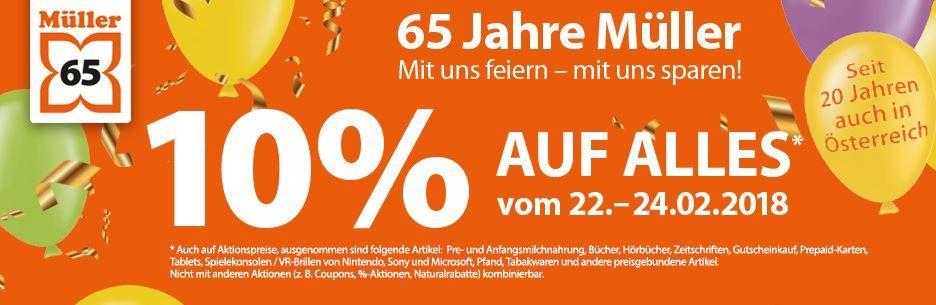 Müller: 10% auf alles