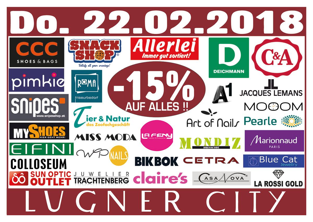 Lugner City: 15% Rabatt in vielen Shops - nur heute gültig!