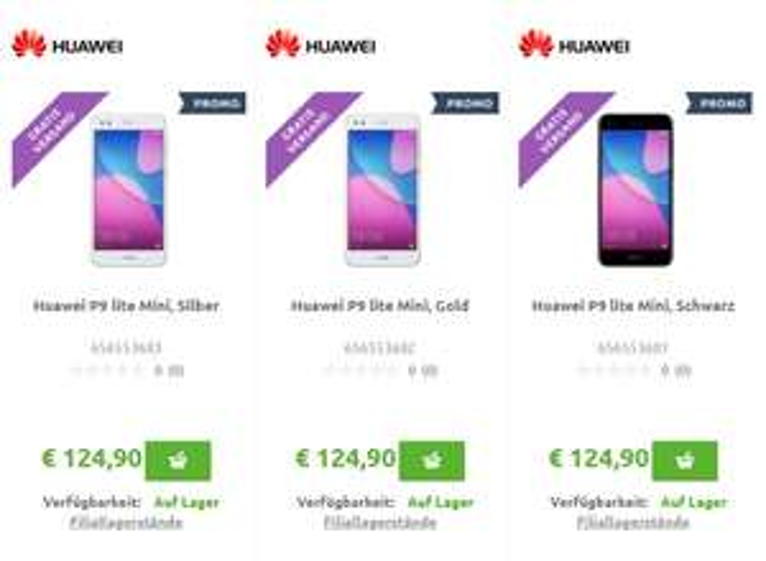 Huawei P9 Lite Mini für 124,90 €