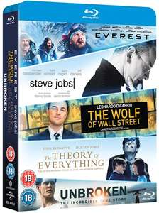 [Zoom.co.uk] Everest + Steve Jobs + The Wolf Of Wall Street + Theory Of Everything + Unbroken (5x Blu-ray) für 10,20€ (Zoom.co.uk)