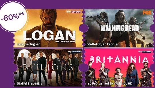 SKY über 2 Monate Entertainment Ticket + Cinema Ticket für nur 9,99.-