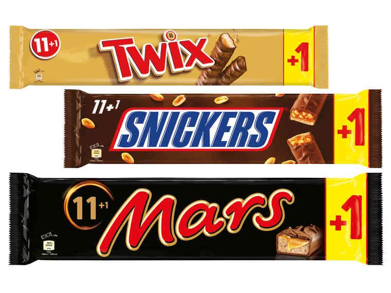 LIDL Mars / Snickers oder Twix 12 Riegel 540-600g  1.3. bis 3.3.