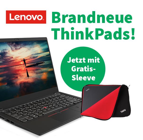Gratis Sleeve zu jedem Lenovo Thinkpad