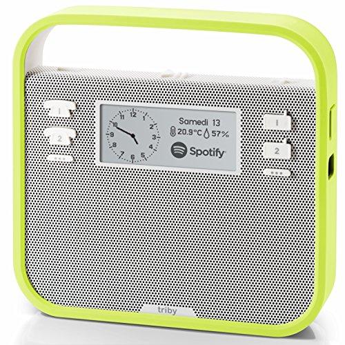 invoxia Triby - Tragbarer Smart-Lautsprecher mit Alexa Sprachservice in grün um 82,44