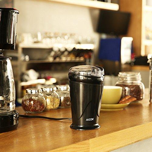 Kaffeemühle elektrisch mit Edelstahl Klingen150 Watt für 9,99€ statt 22,99€