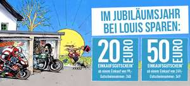 [Motorrad] -€20 / -€50 bei Louis