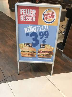 Burger King KING DEAL in Wiener Restaurants !
