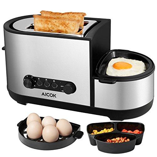 Automatik-Toaster und Eierkocher, 5-in-1 Toaster 1250W