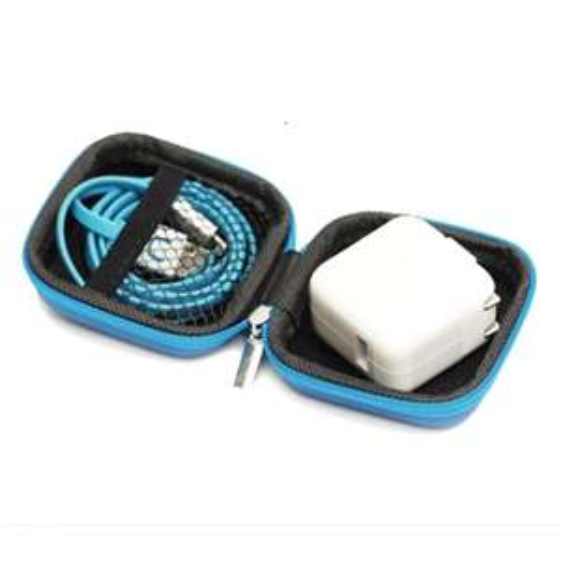 Dresslily-Mini Zipper harter Kopfhörer-Kasten PU-Kopfhörer-Speicher-Beutel-Schutz 85 Cent