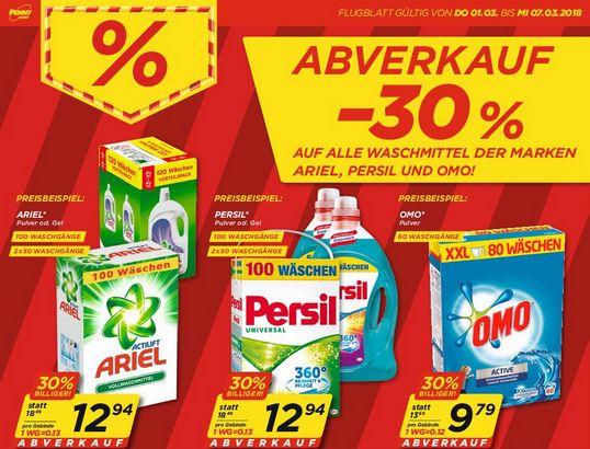 [Penny] 30% Rabatt auf Ariel, Persil und OMO - ab 1.3.2018 + 2 € Marktguru Cashback