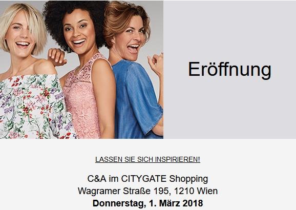 C&A Neueröffnung in Wien 22 -20% auf alles