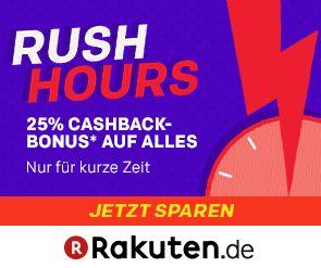 """25fach Punkte (30x als Clubmitglied) auf alles bei Rakuten am 28.2. von 10-18 Uhr (entspricht 25% bzw. 30% """"Cashback"""")"""