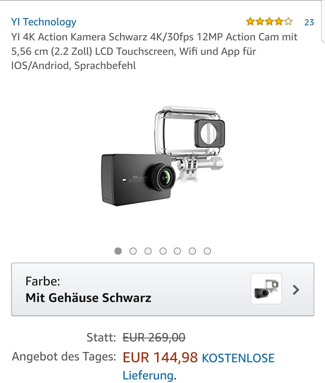 Yi 4K mit Gehäuse beim Amazon um 144.98€