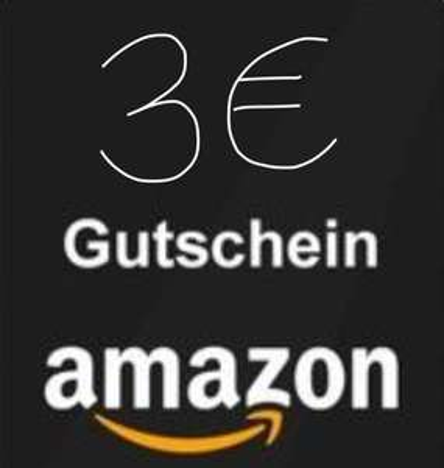 3 € Amazon Gutschein um 1,50 €