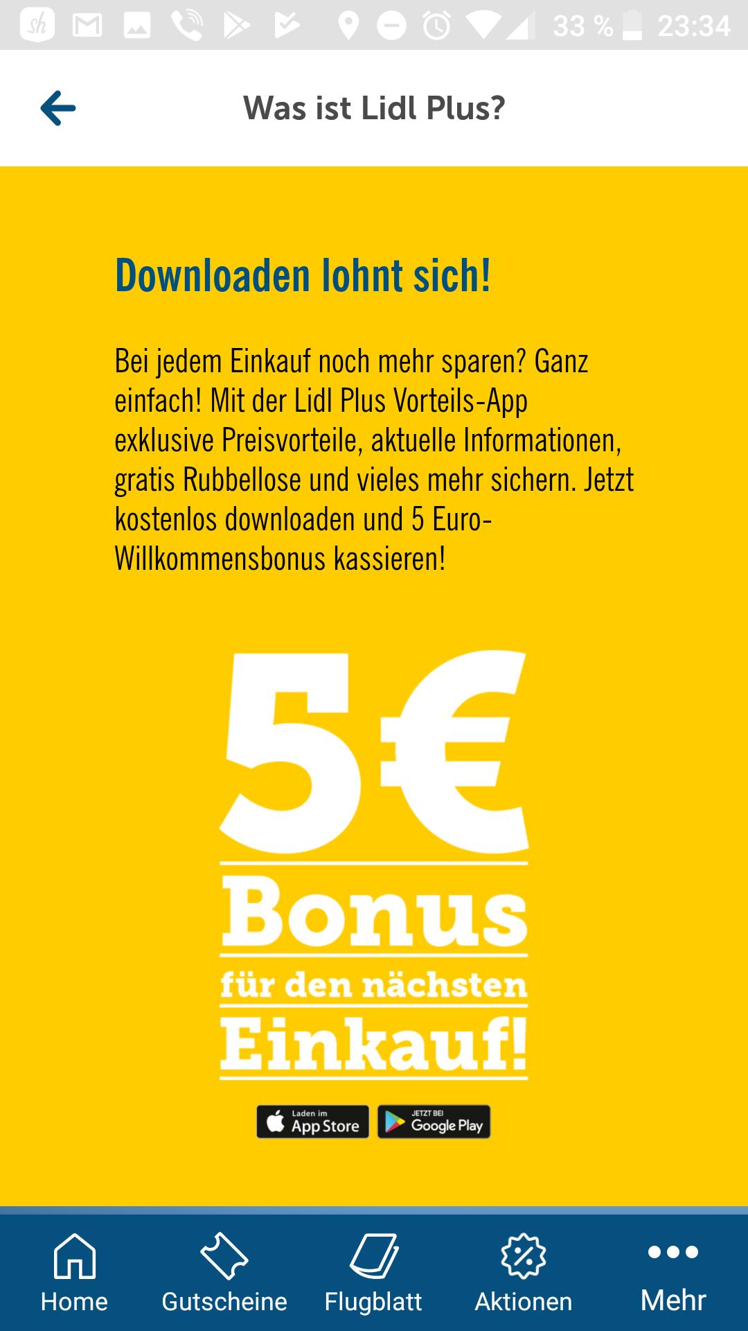 5€ Lidl Einkaufsgutschein , und viele Rabatte