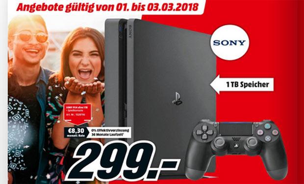 [MediaMarkt Floridsdorf, nur Lokal] PlayStation 4 slim für €299 *doppelt*