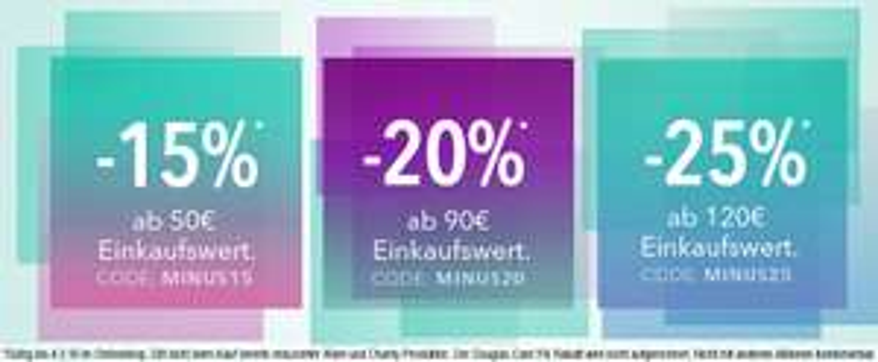 Douglas bis zu -25% Rabatt bis 4.3. im Onlineshop