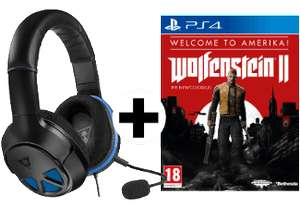 Turtle Beach Ear Force Recon 150 Gaming Headset + Wolfenstein II (PS4 / Xbox One) für 66€