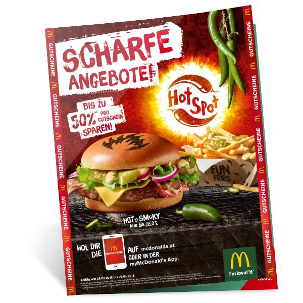 Neue McDonald's Gutscheine - 9.3.- 9.4.2018