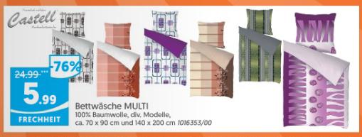 [Lipo] 100% Baumwoll-Bettwäschset für 4,99 € / 5,99 €