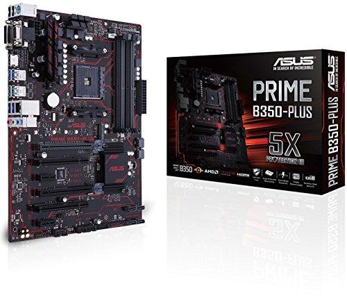 Amazon Asus Prime B350-PLUS Mainboard Sockel AM4 (ATX, AMD B350, Ryzen, 4x DDR4 Speicher, 6x SATA 6Gb/s)
