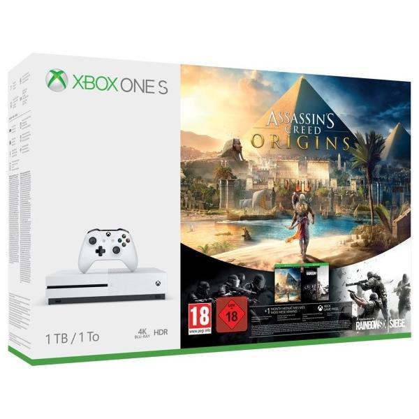 Xbox One S Konsole 1TB + Assassin Creed Origins + Rainbow Six