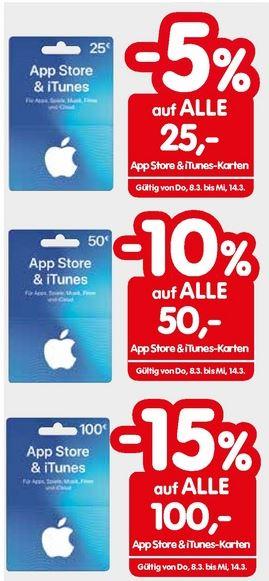 [Interspar] App Store und Itunes Rabatte - 5% auf 25 € / 10% auf 50 € / 15% auf 100 €