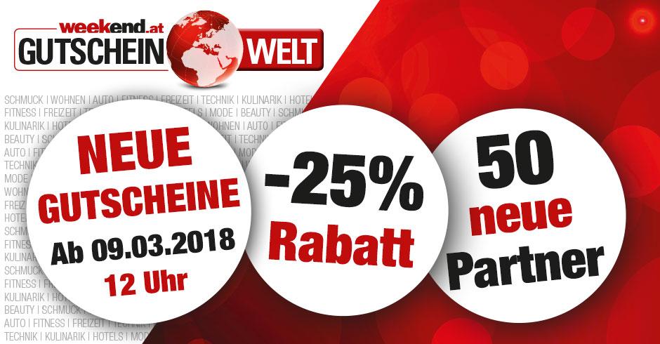 -25 % Rabatt auf Wertgutscheine