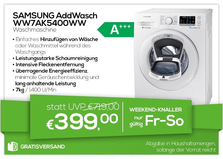 Samsung AddWash WW7AK5400WW