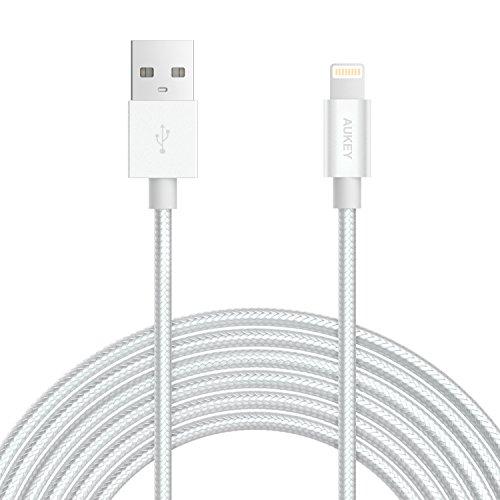 Aukey Apple Lightning Kabel (2m, MFI zertifiziert, weiß)