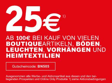 25€ sparen beim Einkauf ab 100€
