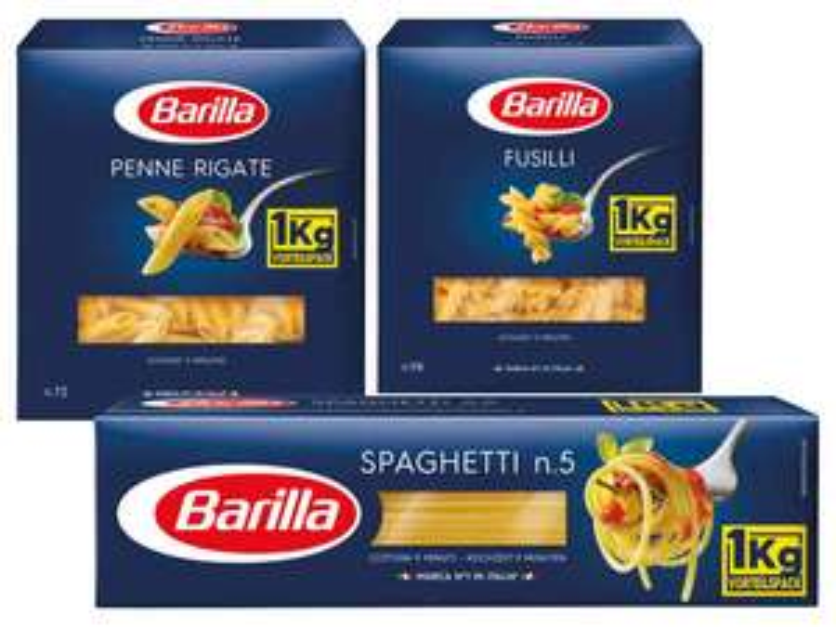 LIDL Barilla Aktion Spaghetti, Penne Rigate, Fusilli je 1kg ! am Samstag 17.3.